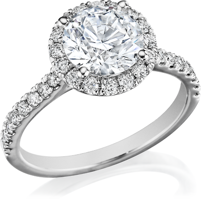 Gorgeous 2.20 Ctw Round Cut Halo Diamond Engagement Ring H  VS2 - GIA Certified