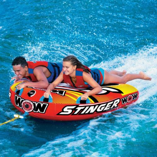 NEW Wow Stinger 2-Person Towable Deck Tube - High Visibility, Heavy Duty Nylon
