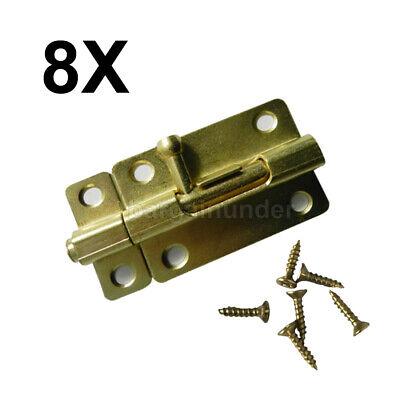 1 - 8 PC Door Slide Catch Lock Bolt Latch Barrel Home Gate Safety Brass W -