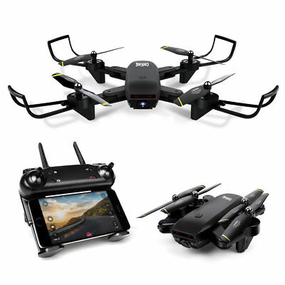 S169 Wifi FPV Optical Flow Selfie Drone RC Quadcopter Dual HD Camera Drone