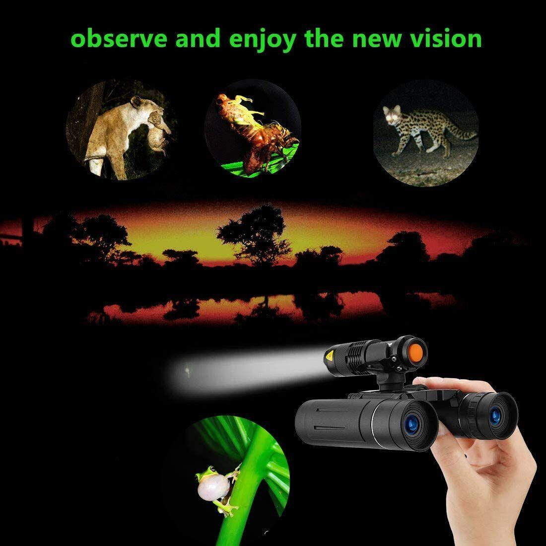 Binoculars 10×25 Hunting High Power Waterproof + LED FLASH LIGHT Large Eyepiece Binoculars & Monoculars