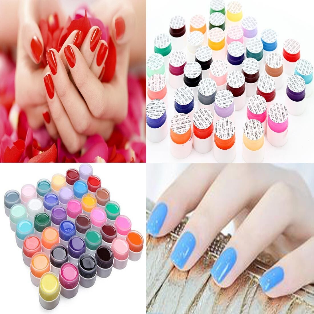 Nail Polish Tips: Pure Color DIY UV Nail Polish Gel Decor For Nail Art Tips