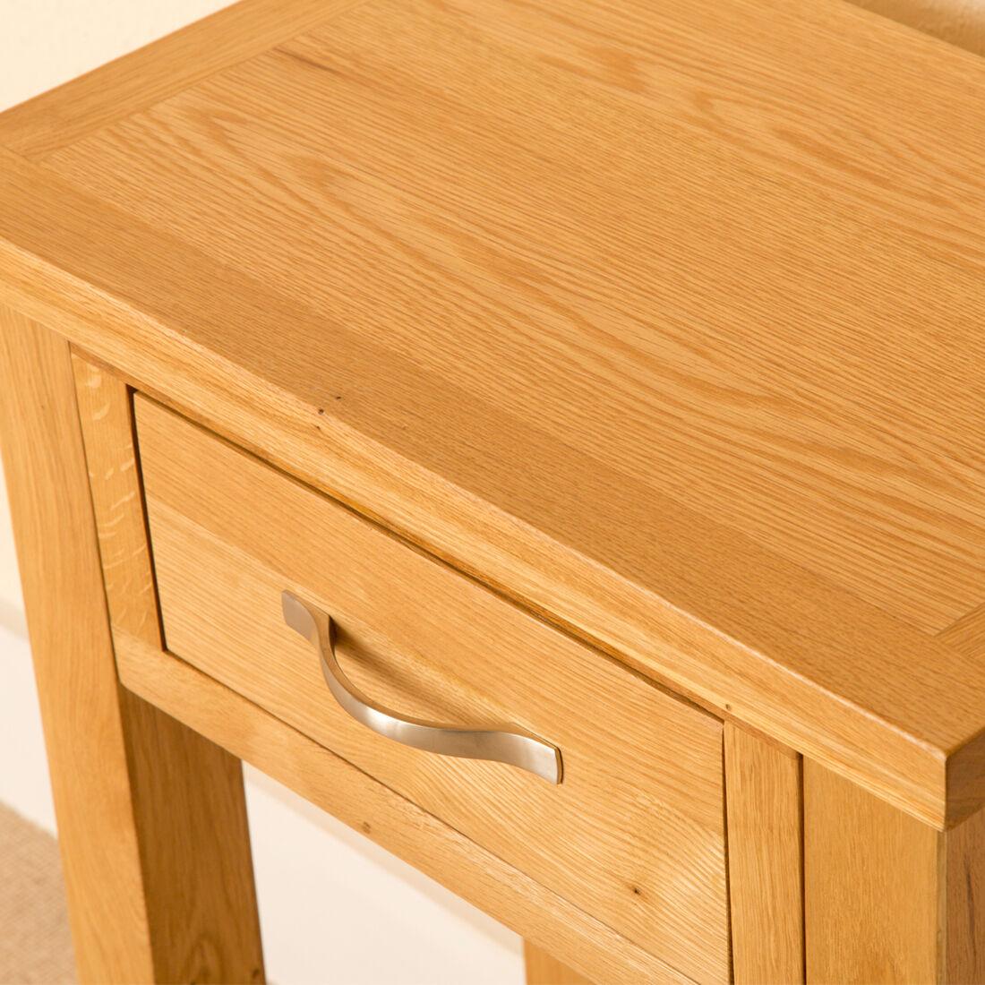 Newlyn   Oak Telephone Table / Light Oak Hall Table / Modern Oak Side Table    EBay