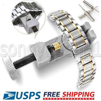 Metal Watch Band Strap Bracelet Link Remover Repair Kit Adjustable Set Pins Tool
