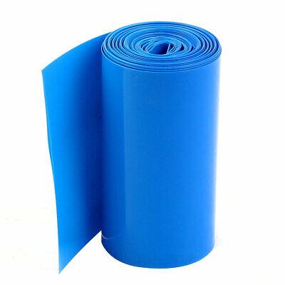 2M 85mm Ancho PVC Encogimiento Calor Envoltura Tubo Azul 18650 Batería Paquete