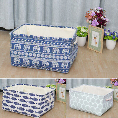 Collapsible Fabric Storage Bin Laundry Basket Toy Box Organizer for Shelves ()