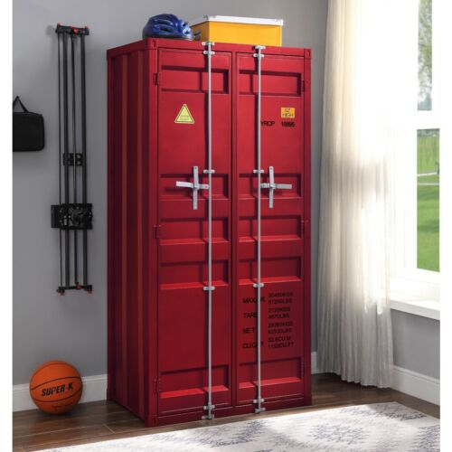 Acme Cargo Youth Double Door Wardrobe (Red)