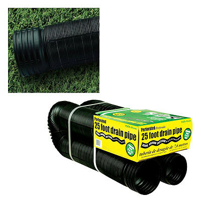 FLEX-Drain 50310 Perforated Corrugated Flexible Landscape Drain Pipe, 4″ x 25′ Home & Garden