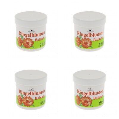 10,38EUR/1l Herbamedicus Ringelblumen Balsam Salbe Creme Lotion 4x250ml Pflege