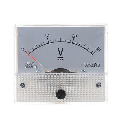 Analogico 30V DC tensione Ago tester di pannello voltmetro J5B5