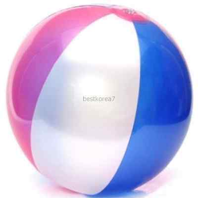 New 33cm Large Inflatable Beach Ball Party Carnival Pool Summer Blue/PInk - Large Inflatable Beach Ball