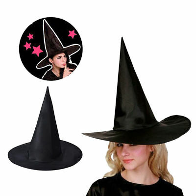 Adult Womens Men Black Witch Hat Costume Accessory For Halloween Costume Gifts