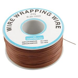 Brown PVC Coated Tin Plated Copper Cable Wrapping Wire 305M 30AWG Cable Reel