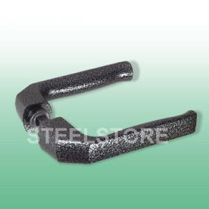 Türdrücker Türklinke  schwarz//silber patiniert modernes Design 8//10 mm Quadrat