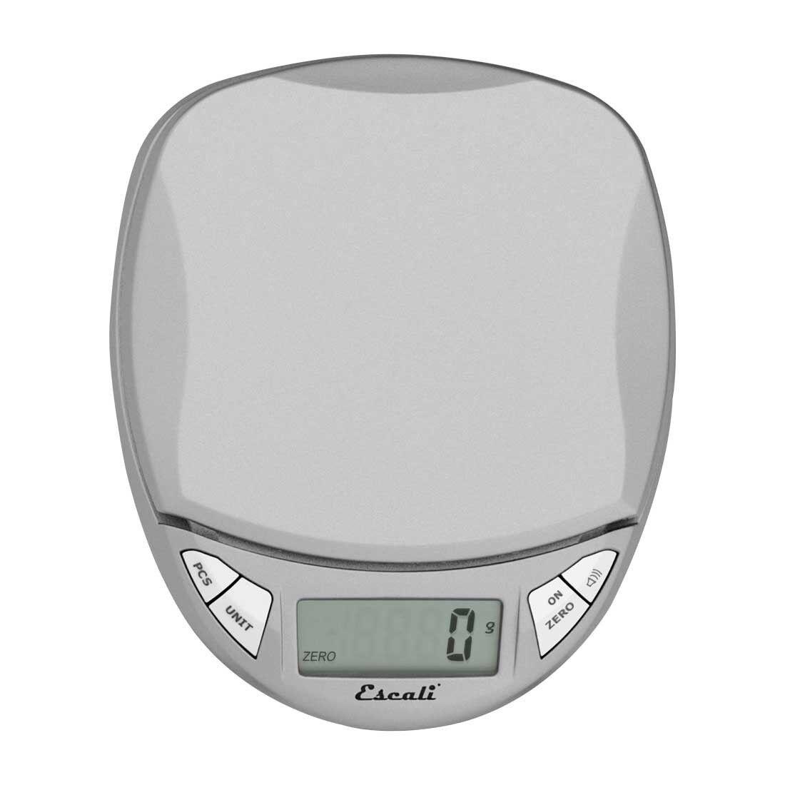 Escali Pico Digital Scale Kitchen Office 11 Lb/5 Kg Silver Accurate N115S