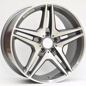 Mercedes wheels 18x8.5 Titanium Grey Machined M633 Murrumbeena Glen Eira Area Preview