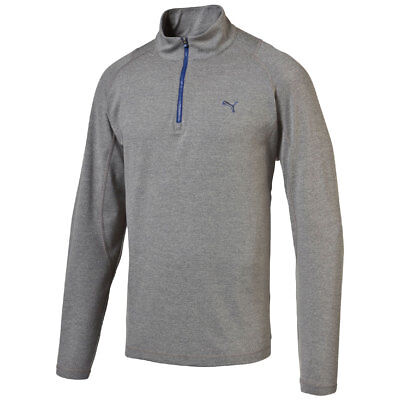 Puma Golf Solid 1/4 ZIP POPOVER Sweater Pullover Dry Cell grau ()