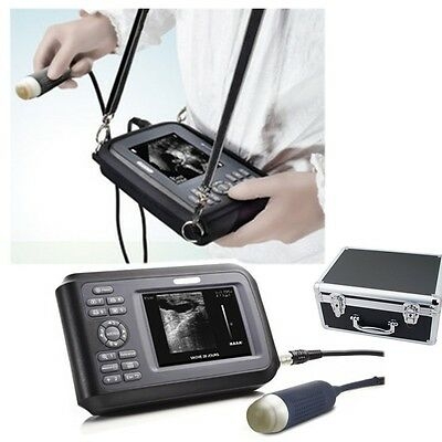 Portable Veterinary Ultrasound Scanner Machine Handheld Animal Pet Carry Case