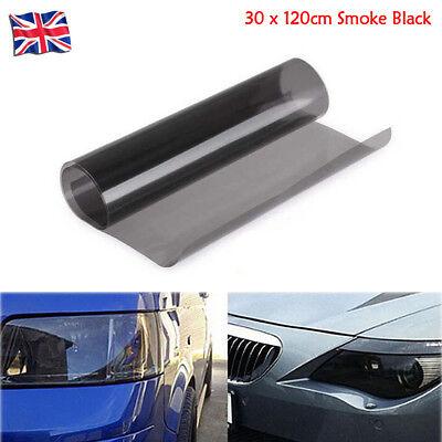 30 x 120cm Tint Film Headlights Tail lights Car Vinyl Wrap Light Smoke Black