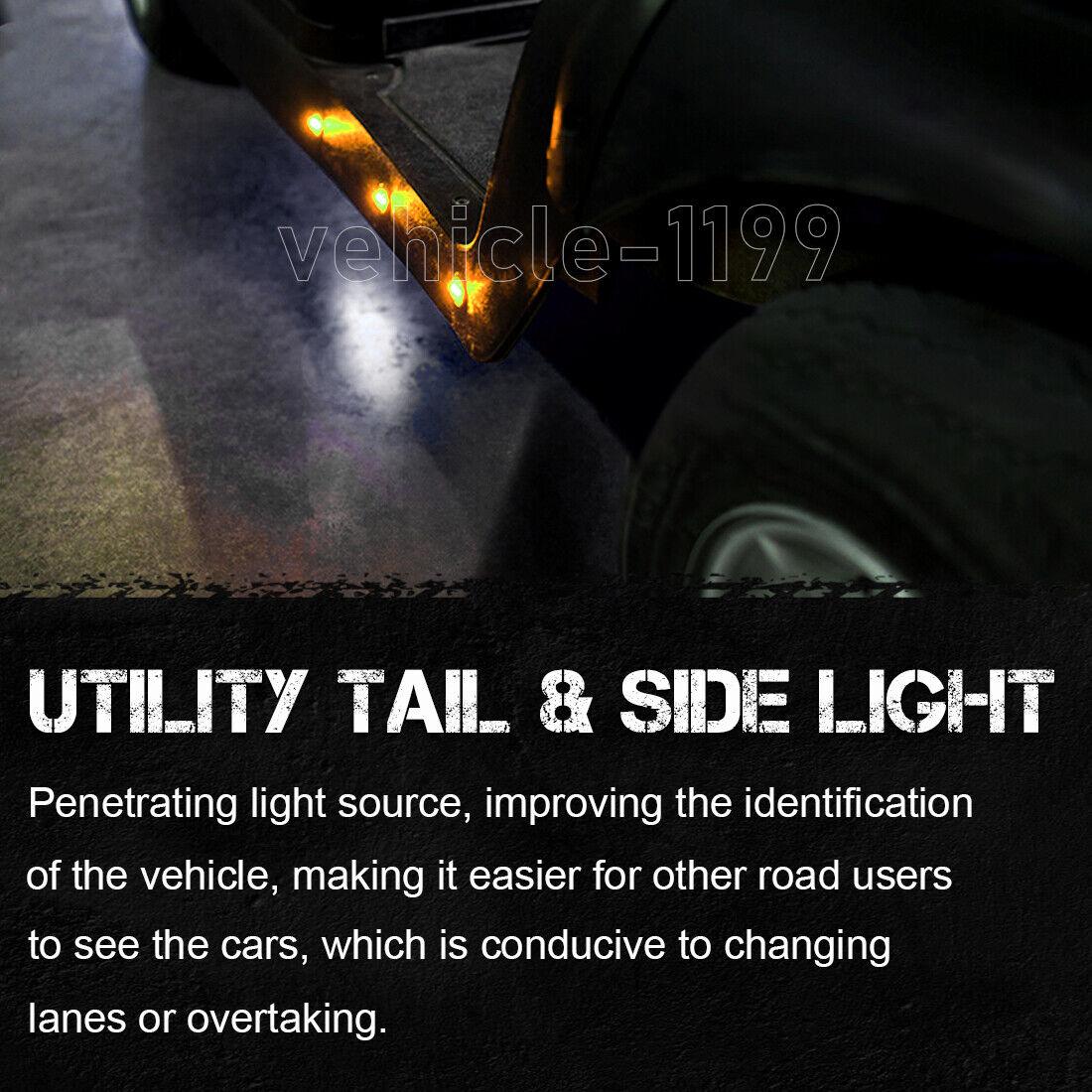 20x Mini Round Side Marker Lights 3  4 U0026quot Led Bullet Light