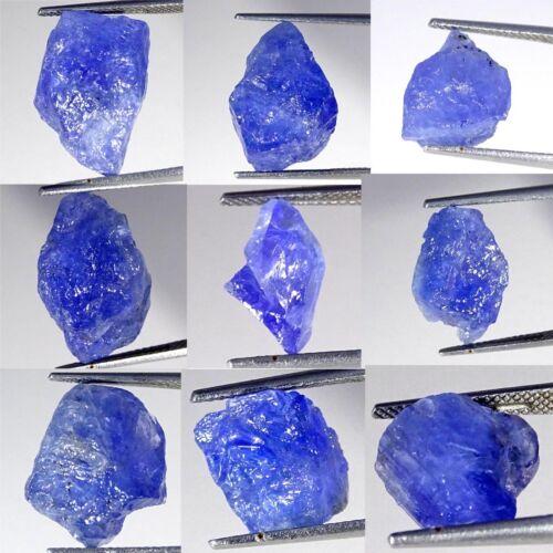 Natural Blue Tanzanite Rough Loose Gemstone Collection