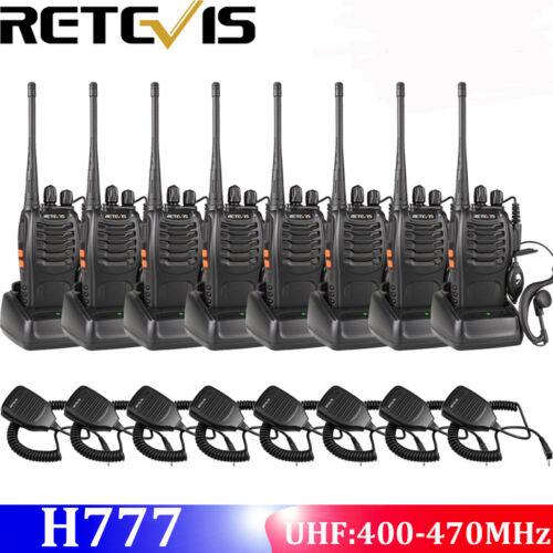 8xRetevis H777 Walkie Talkie CTCSS DCS 5W 1000mAh UHF400-