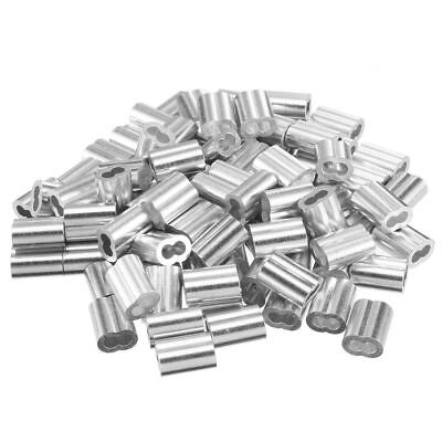 Wire Rope Aluminum Alloy Sleeves Clip Fittings Cable Crimps Ferrule 50100pcs P