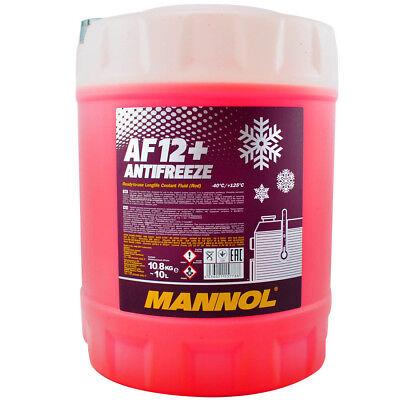 Kühlerfrostschutz Rot G12+ 10L Mannol Antifreeze AF12+ -40°C Kühlmittel VW Audi