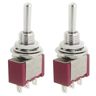 2 Pcs Ac Spdt Onoffon 3 Position Momentary Toggle Switch Ac250v2a120v5a Dt