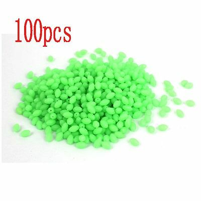 Set Useful Plastic Oval Shaped Luminous Beads Fishing Lures Glow In The Dark
