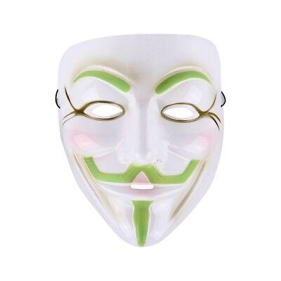 Maske V for Vendetta Guy Fawkes Mask Halloween Fasching in weiß grün gebraucht kaufen  Deutschland