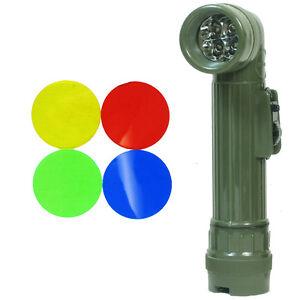 US Army OLIVE GREEN Right-Angle TL-132 TORCH Medium LED Military Flashlight
