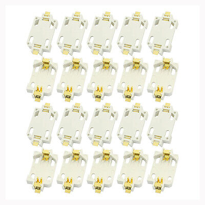(20pcs White Housing CR2032 SMD Cell Button Battery Holder Socket Case)