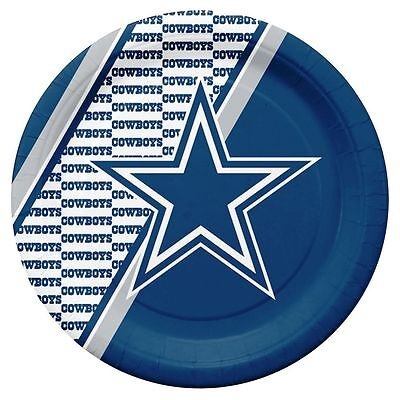 Dallas Cowboys Disposable Paper Plates - 20 Pack [NEW] NFL Party Tailgate Dallas Cowboys Party Pack