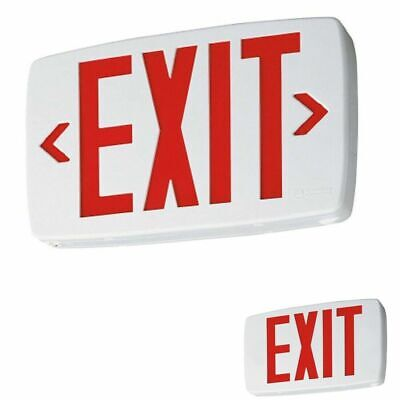 Lithonia Lighting Quantum Led Emergency Exit Sign White Housing And Red Letters