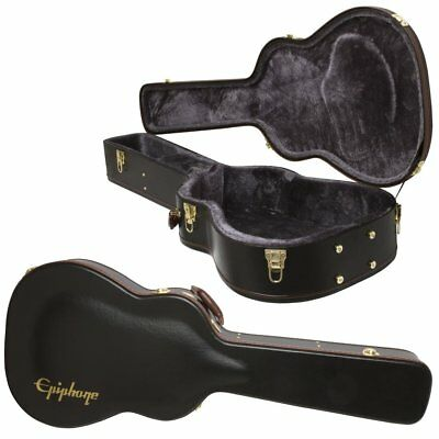 New Epiphone HummingBird Dreadnought Acoustic Electric Guitar Hard Shell Case