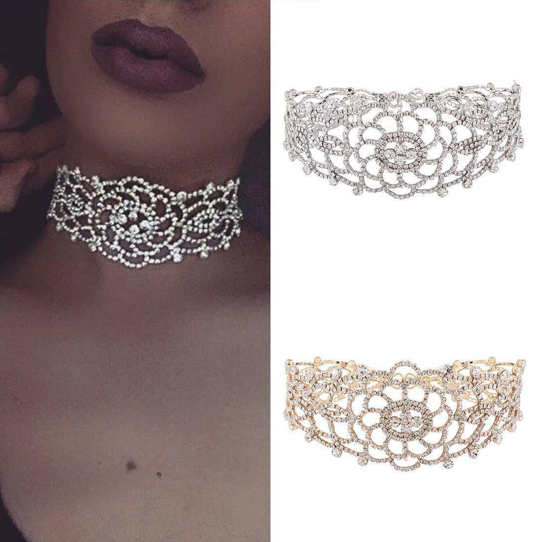Jewellery - Women Fashion Pendant  Crystal Rhinestone Choker Wedding Jewelry Collar Necklace