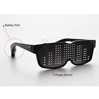 CHEMION 2 Smart Bluetooth LED Sunglasses Club Party Sports Glasses (1pair)