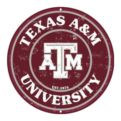 Texas A&m Decorations (Texas A & M 12 Inch Embossed Metal Nostalgia 12