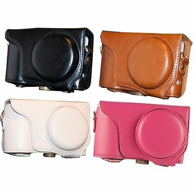 Protective PU Leather Camera Case Bag For Samsung Galaxy Camera 2 EK-GC200 GC200 (Samsung Galaxy Camera 2 Bag)