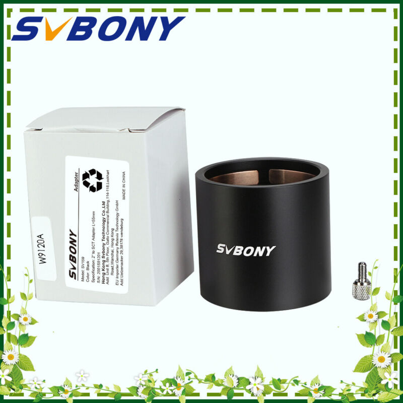 """SVBONY SV159 2"""" SCT Mount Adapter Ring All metal W/ Brass Compression Ring"""