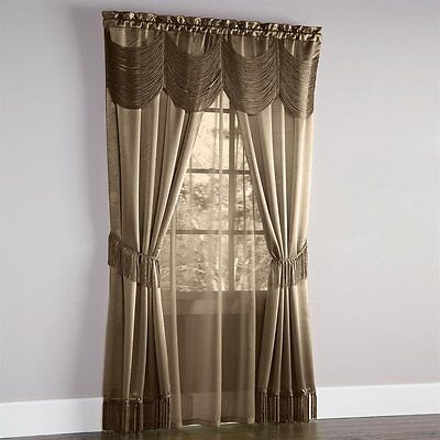 Curtains Ideas austrian valances curtains : HALLEY CURTAINS, SHEER AND AUSTRIAN VALANCE COMPLETE WINDOW SET