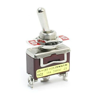 On-off-on Spdt 3 Screw Terminal Rocker Type Toggle Switch Ac 250v 15a