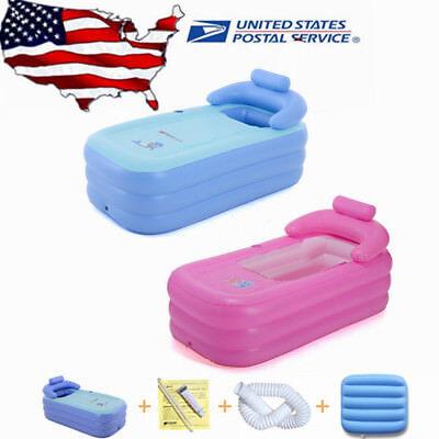 2 Colors Blow Up Adult PVC Portable Spa Warm Bathtub Inflatable Bath Tub Kit USA - Blow Up Tub