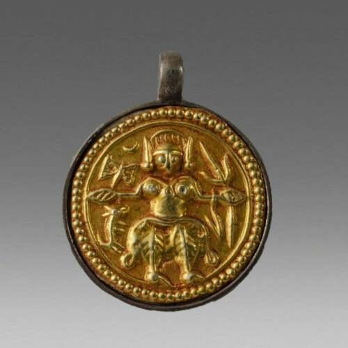 Antique Gold Plated Shiva Amulet c.19th century