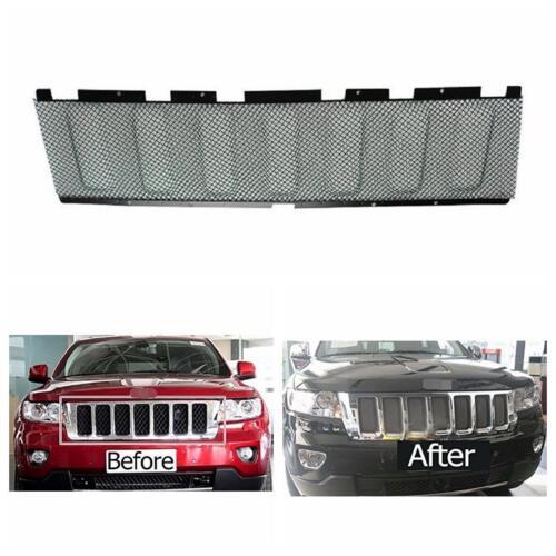 black 3d mesh front bug grille grill insert for 2011 2013 jeep grand cherokee ebay. Black Bedroom Furniture Sets. Home Design Ideas