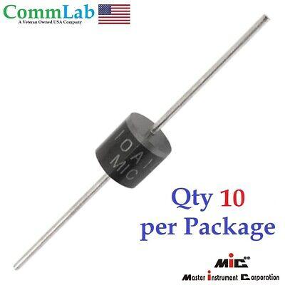 10a10 10amp 10a 1000v 1kv Axial Rectifier Diode Solar Panel Usa Seller 10pcs