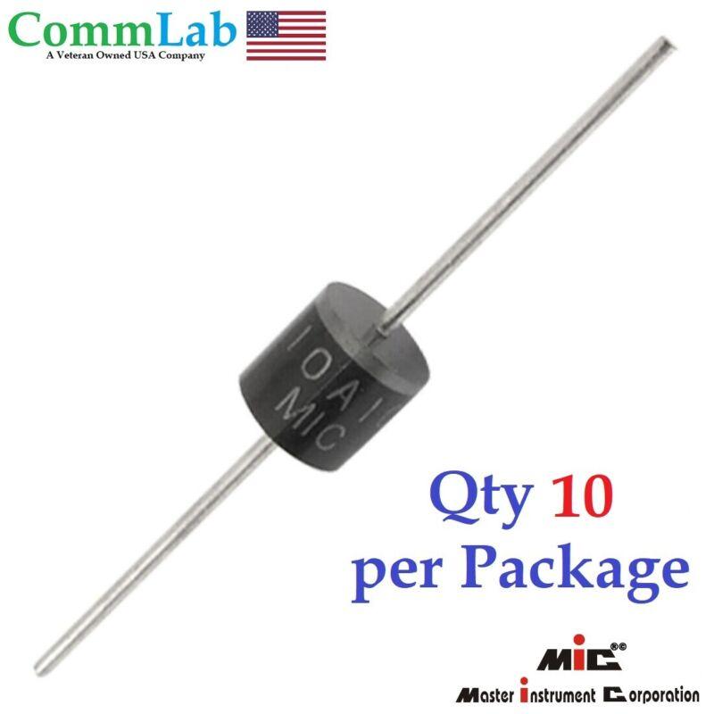 10A10 10amp (10A) 1000v (1KV) Axial Rectifier Diode solar panel USA SELLER 10pcs