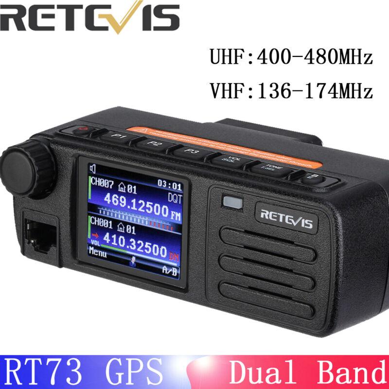 Mini Mobile Radio with GPS Dual Band Dual display and Dual standby Retevis RT73
