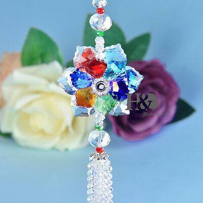 Rainbow Maker Flower Crystal Suncatcher Prism Feng ...
